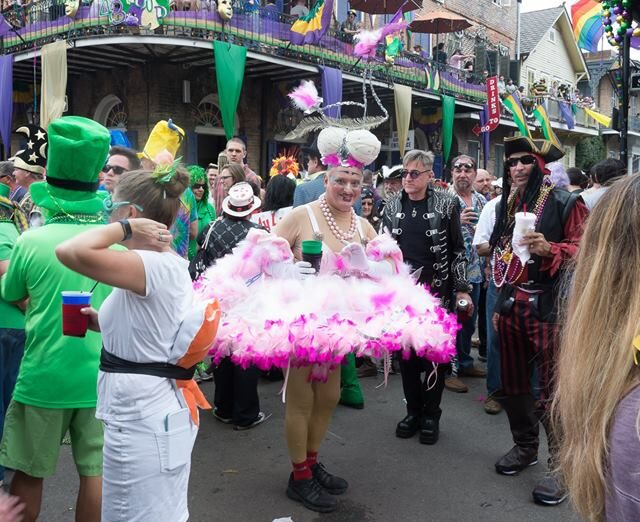 Mardi Gras 2017 Walking Parade in Marigny New Orleans